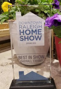 Image of our 2019 Spring Downtown Raleigh Home Show Award
